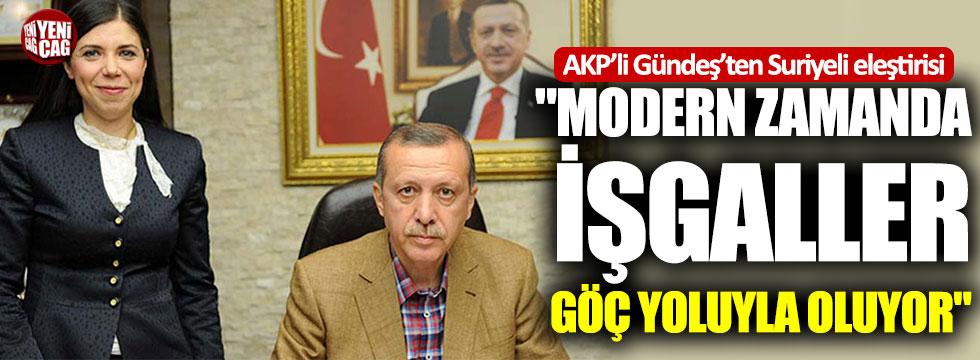 AKP'li Gündeş'ten Suriyeli eleştirisi