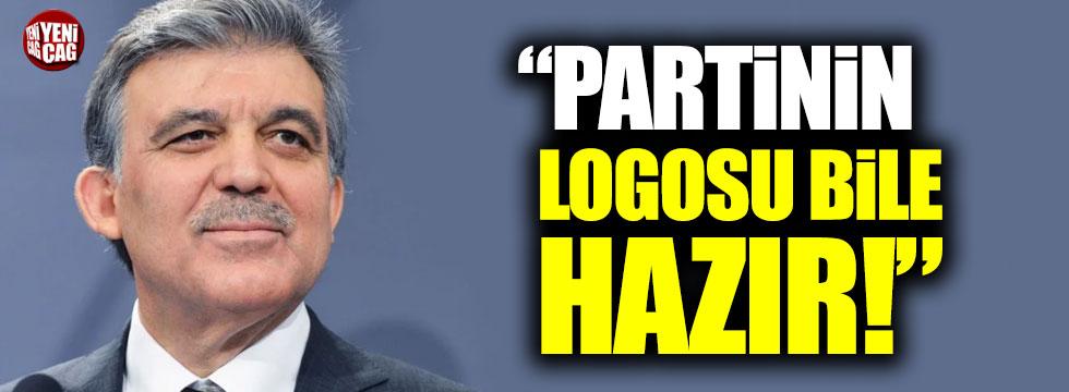 """""""Abdullah Gül'ün partisinin logosu bile hazır"""""""