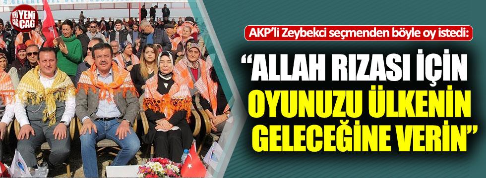 """Nihat Zeybekci böyle oy istedi: """"Allah rızası için..."""""""