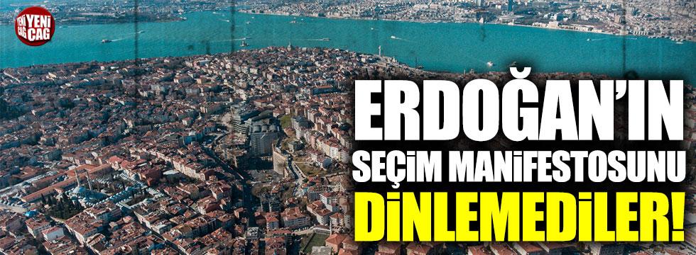 Üsküdar Belediyesi, Erdoğan'ın seçim manifestosunu dinlemedi!
