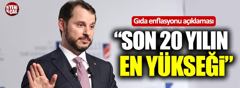 """Berat Albayrak'tan gıda enflasyonu açıklaması! """"Son 20 yılın en yükseği"""""""