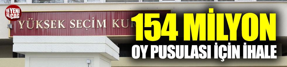 YSK'dan, 154 milyon oy pusulası için ihale