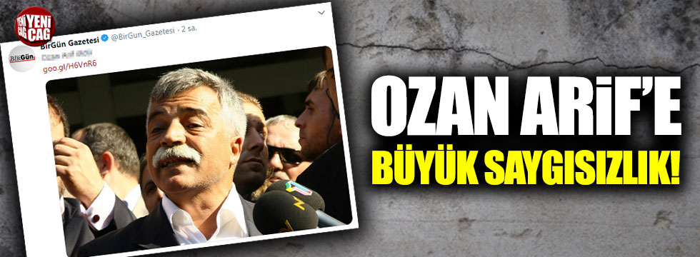Ozan Arif'e büyük saygısızlık