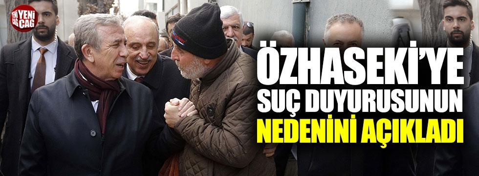 Mansur Yavaş'tan Mehmet Özhaseki açıklaması
