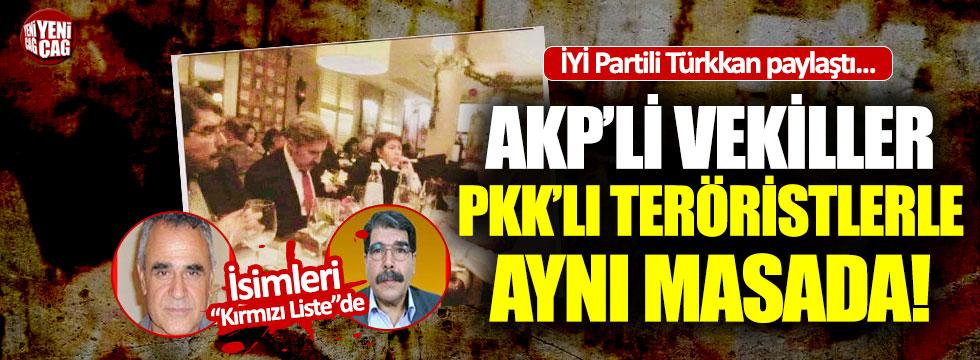AKP'li vekiller PKK'lı ve HDP'li isimlerle aynı karede