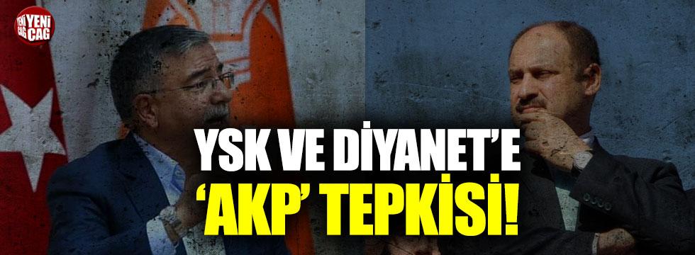 YSK ve Diyanet'te AKP tepkisi