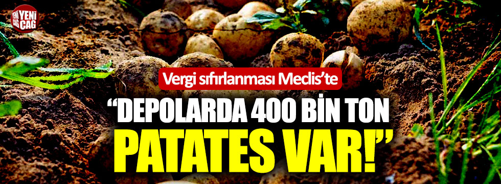 """Depolarda 400 bin ton patates var!"""