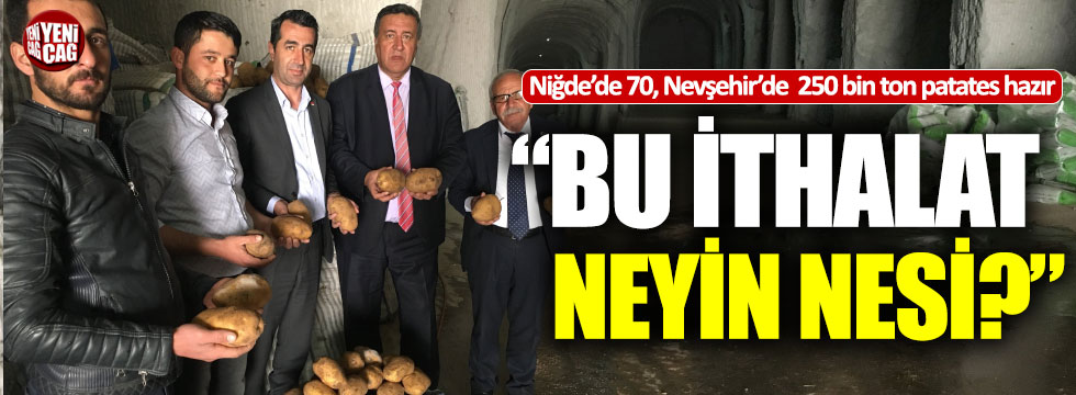 "CHP'li Gürer'den patates tepkisi: ""Bu ithalat neyin nesi?"""