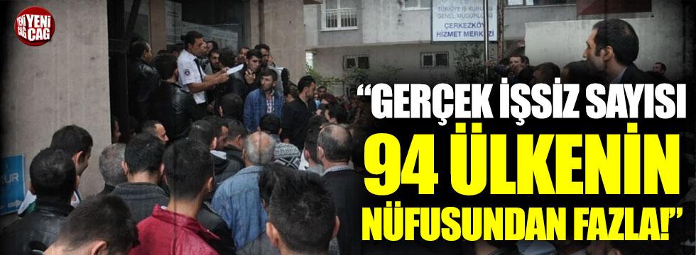 """Faik Öztrak: """"Gerçek işsiz sayısı 94 ülkenin nüfusundan fazla"""""""