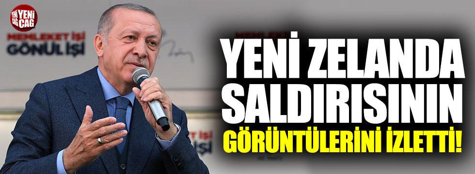 Cumhurbaşkanı Erdoğan, Yeni Zelanda saldırısının görüntülerini izletti