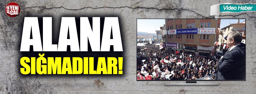 Mansur Yavaş'ın mitinginde vatandaşlar alana sığmadı!