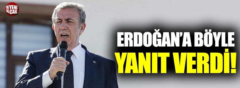 Mansur Yavaş'tan Erdoğan'a yanıt