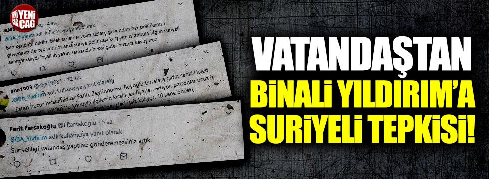 """Vatandaştan Binali Yıldırım'a Suriyeli tepkisi: """"10 sene önceki İstanbul'u özledik"""""""