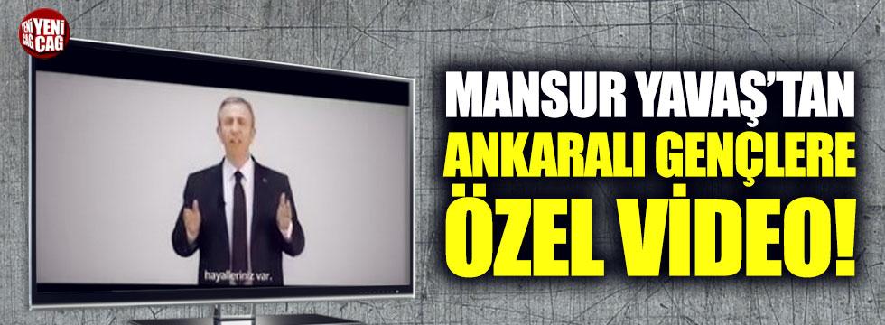 Mansur Yavaş'tan Ankaralı gençlere özel video