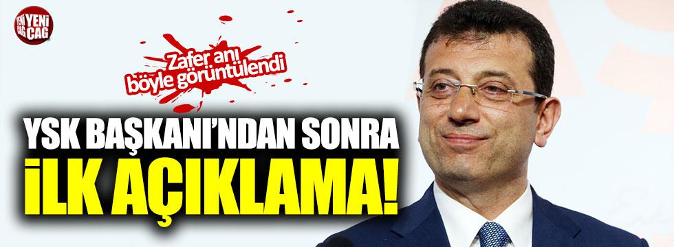 YSK Başkanı'ndan sonra Ekrem İmamoğlu'ndan ilk açıklama!