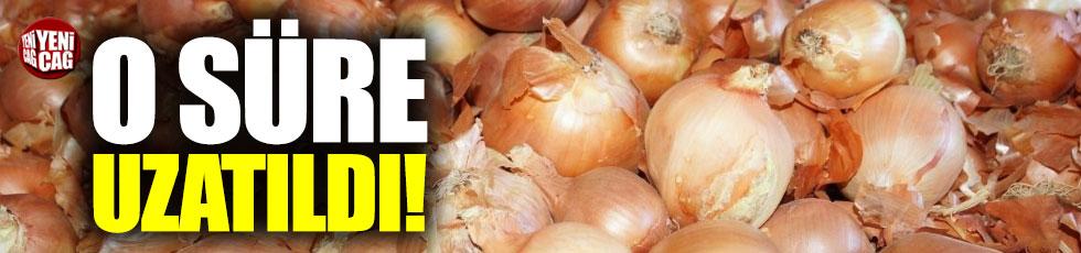 Soğanda 'sıfır gümrük vergisi' uzatıldı