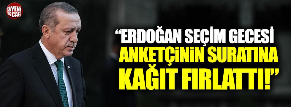 """""""Erdoğan seçim gecesi anket firması sahibinin suratına kağıt fırlattı"""""""