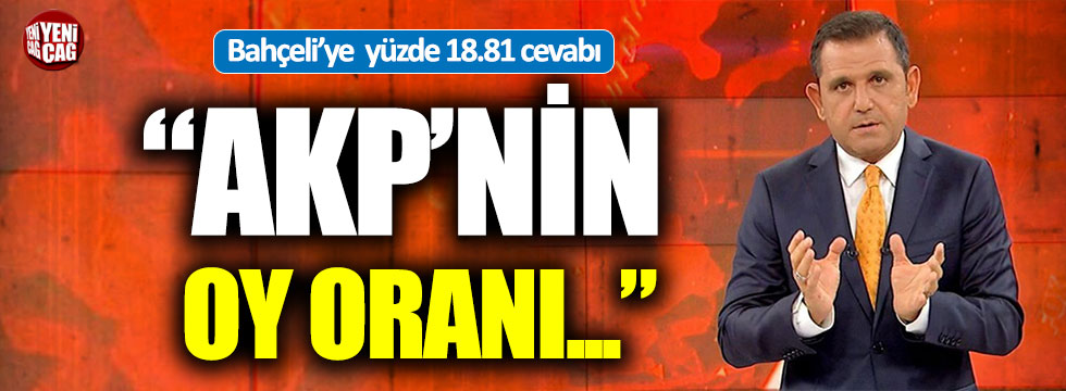 """Fatih Portakal: """"AKP'nin oy oranı..."""""""