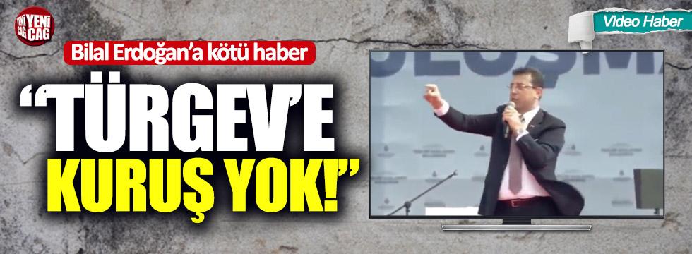 """Bilal Erdoğan'a kötü haber: """"TÜRGEV'e kuruş yok!"""""""