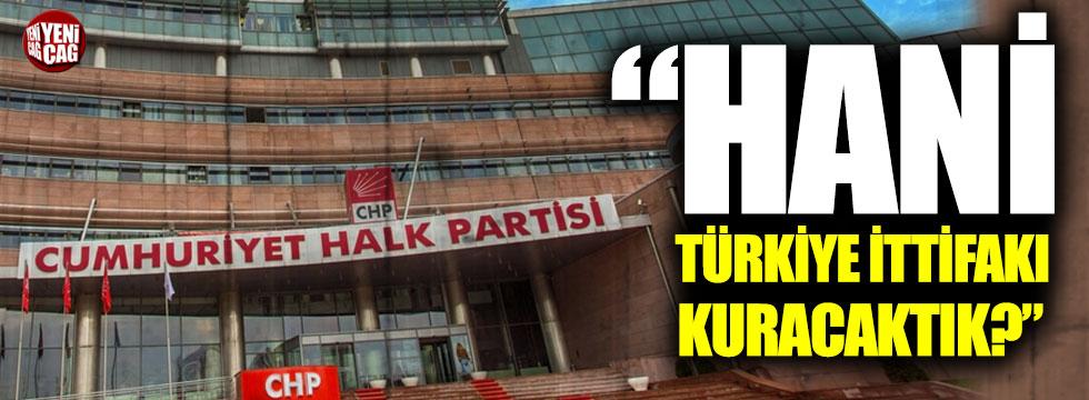 """CHP: """"Hani Türkiye ittifakı kuracaktık hani demiri soğutacaktık?"""""""
