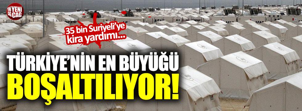 35 bin kişilik çadır kent boşaltılıyor
