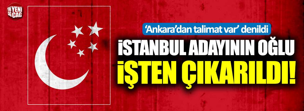 Saadet Partisi'nin İstanbul adayı Gökçınar'ın oğlu 'talimat var' denilerek işten çıkarıldı!
