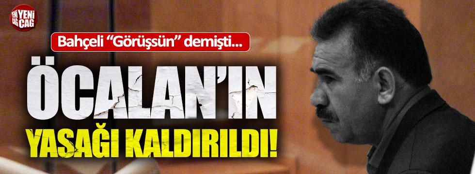 """Adalet Bakanı: """"Öcalan'ın yasağı kaldırıldı"""""""