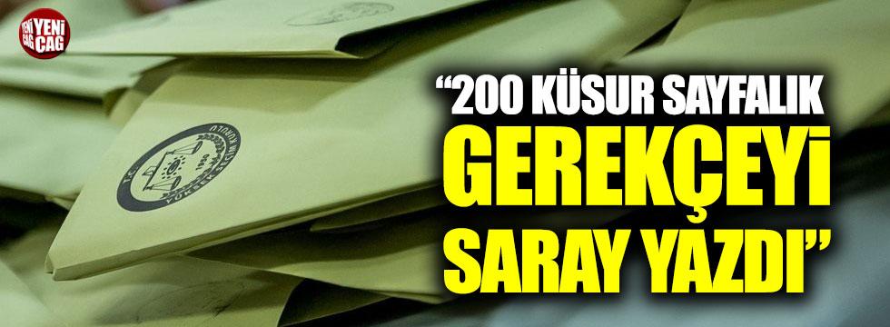 """Faik Öztrak: """"200 küsur sayfalık gerekçeyi Saray yazdı"""""""