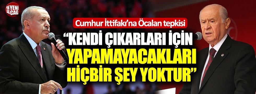 """CHP'den Öcalan tepkisi: """"Kendi çıkarları için yapamayacakları hiçbir şey yoktur"""""""