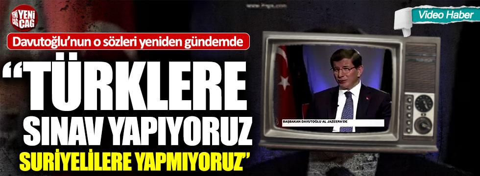 Davutoğlu'nun Suriyeli öğrenci açıklaması yeniden gündemde