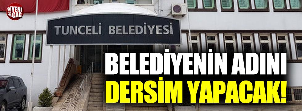 Tunceli Belediyesi'nden skandal karar!