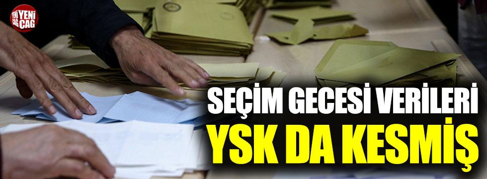 Seçim gecesi verileri YSK da kesmiş