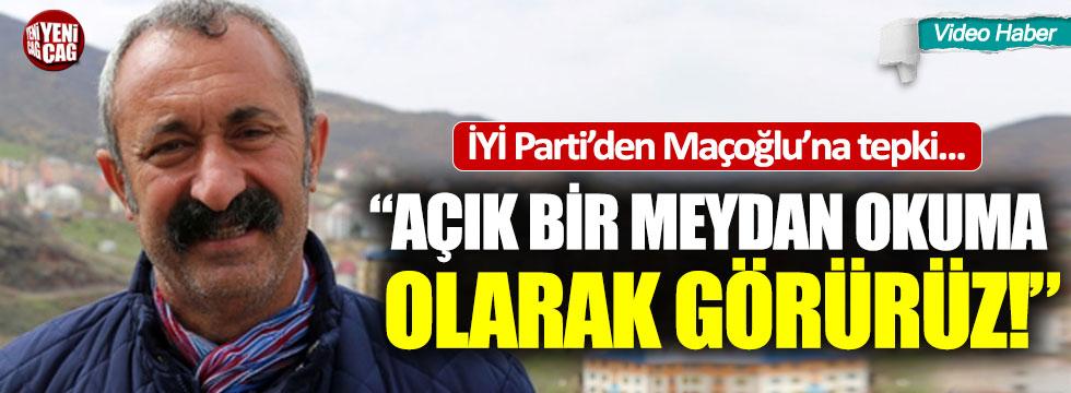 İYİ Parti'den Tunceli Belediye Başkanı Maçoğlu'na tepki