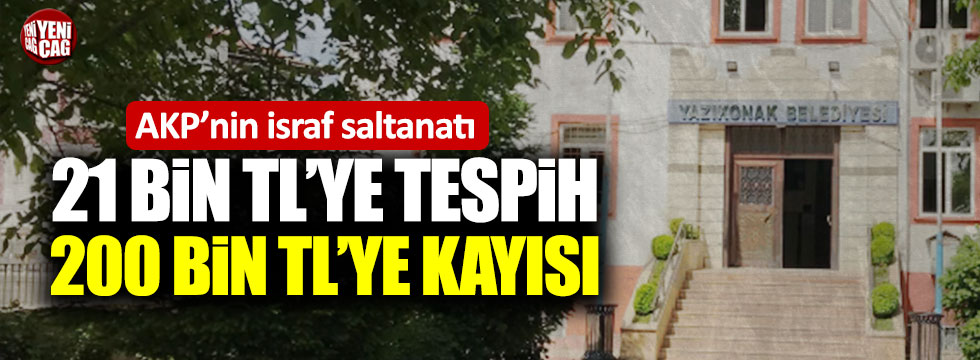 Saadet Partili Belediye Başkanı'nın israf isyanı