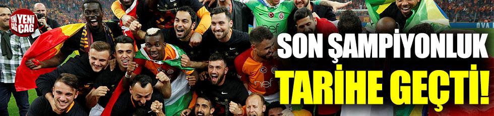 Galatasaray'ın şampiyonluğu tarihe geçti