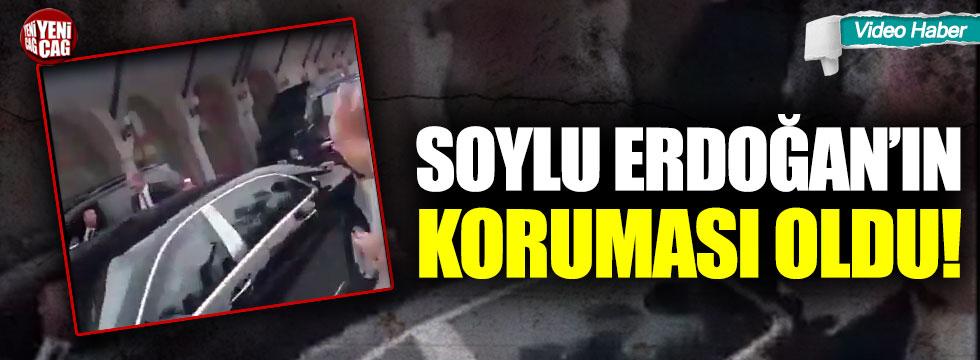 Bakan Soylu, Erdoğan'ın koruması oldu