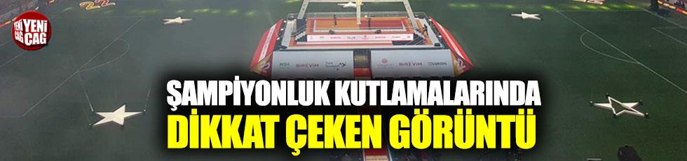 Galatasaray'ın şampiyonluk kutlamalarında dikkat çeken görüntü