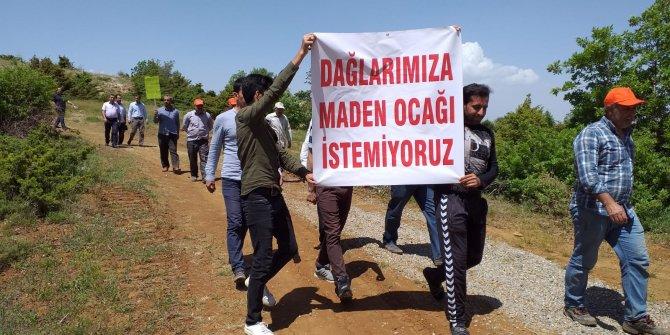 Elazığ'da köylülerden maden ocağı eylemi
