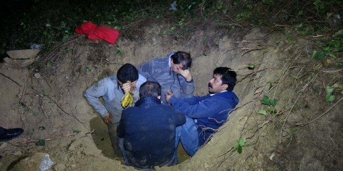 Kaçak defineci yakalanmamak için ölü taklidi yaptı
