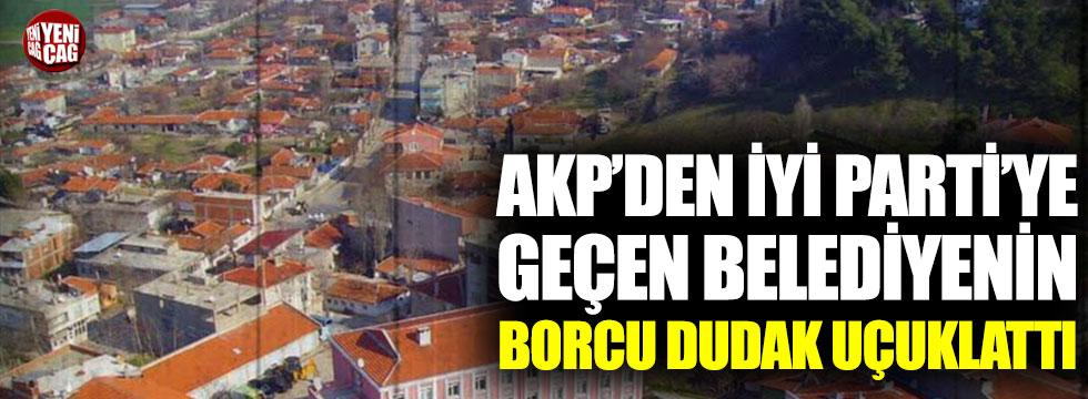 AKP'li belediyeden İYİ Parti'ye dudak uçuklatan borç