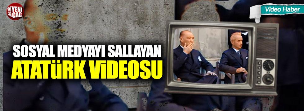 Yapay zeka teknolojisiyle renklendirilen Atatürk videosu sosyal medyayı salladı