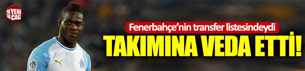 Fenerbahçe ve Galatasaray'ın listesindeydi: Balotelli takımına veda etti