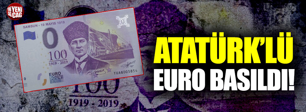 Hatıra para böyle olur: Atatürk'lü Euro basıldı