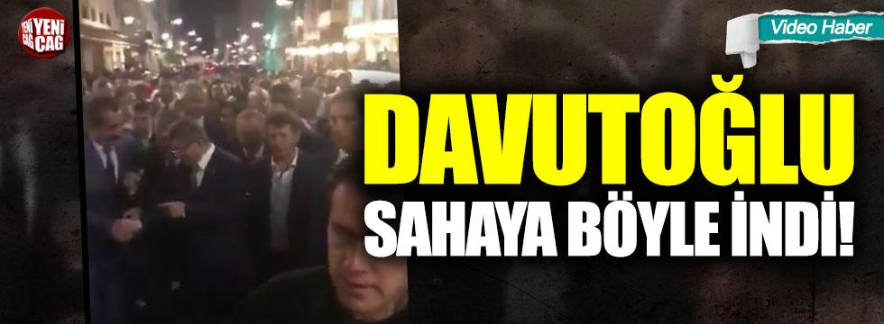 Davutoğlu sahaya böyle indi!