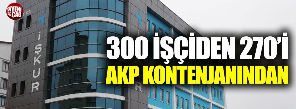 İŞKUR'da 300 işçiden 270'i AKP kontenjanından
