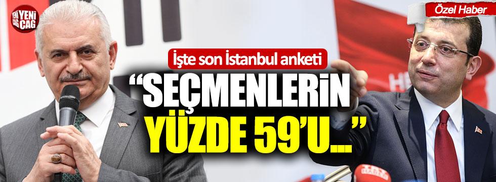 """İşte son İstanbul anketi! """"Seçmenlerin yüzde 59'u..."""""""