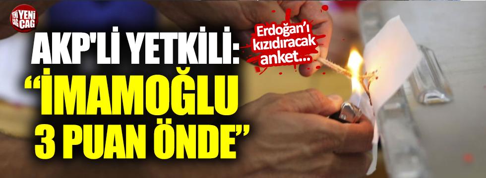 "AKP'li yetkili: ""İmamoğlu 3 puan önde"""