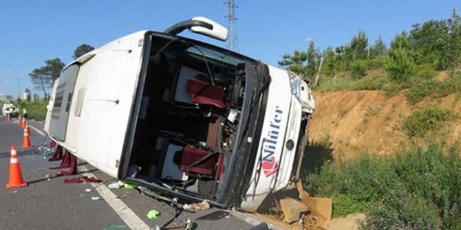 İstanbul'da feci kaza: 1 ölü 15 yaralı!