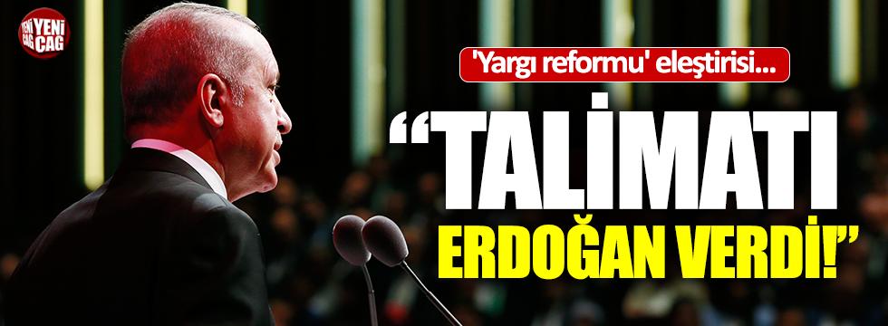 Özel'den 'yargı reformu' eleştirisi