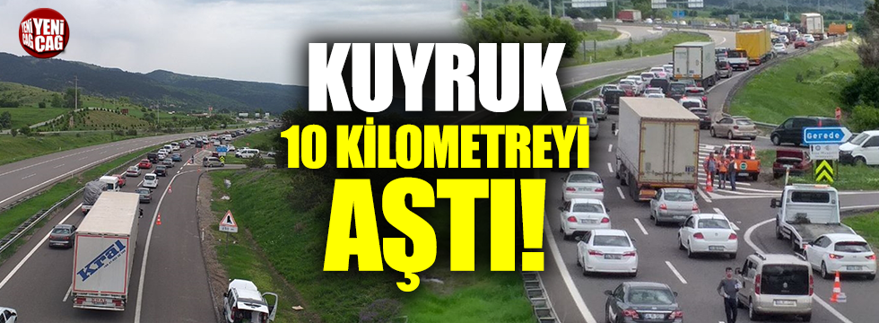 Anadolu Otoyolu'nda bayram trafiği